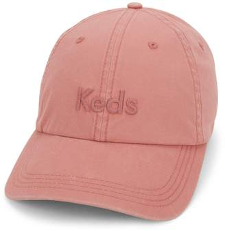 Keds Women's Embroidered Logo Washed & Brushed Cotton Baseball Cap