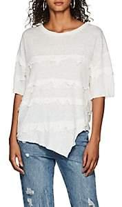 IRO Women's Birtie Distressed Linen T-Shirt