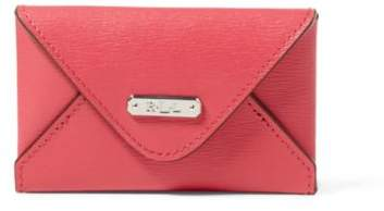 Ralph Lauren Leather Newbury Card Case Rouge One Size