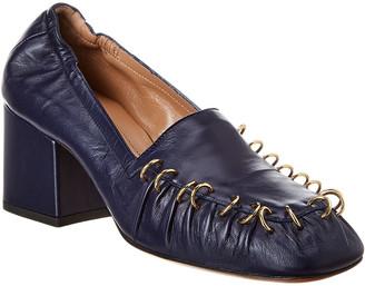 Marni Block Heel Leather Pump