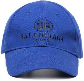 Balenciaga Blue logo embroidered cap