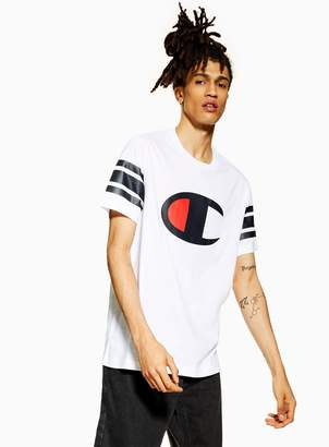 313d68c1050 Farah TopmanTopman CHAMPION White Chest Logo Baseball T-Shirt