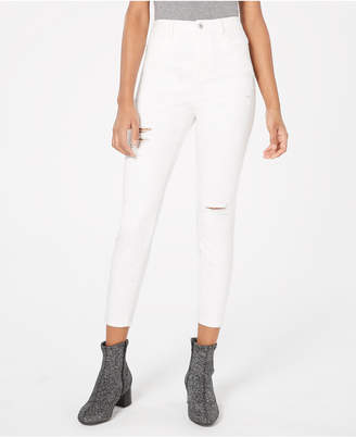 Vanilla Star Juniors' Ripped Skinny Ankle Jeans