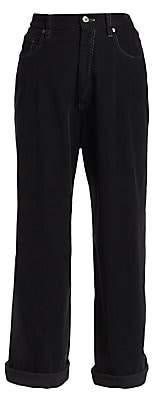 Brunello Cucinelli Women's Wide-Leg Corduroy Pants