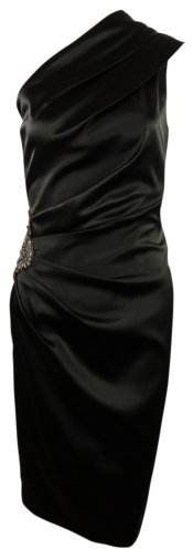 Eliza J Women's One Shoulder Rouched Dress With Beading At Side