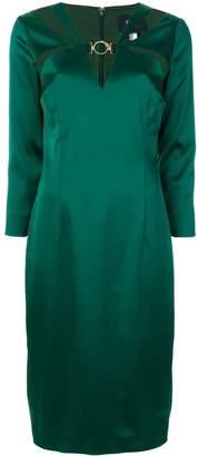 Class Roberto Cavalli long sleeved cut out dress