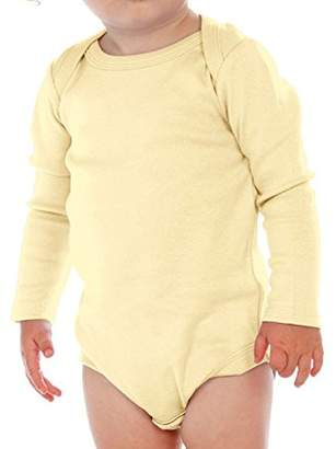 Kavio Unisex Infants Lap Shoulder Long Sleeve Onesie 24M