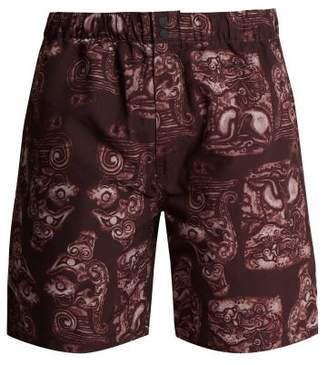 39d1692889a13 Saturdays NYC Trent Pendant Swim Shorts - Mens - Burgundy Multi