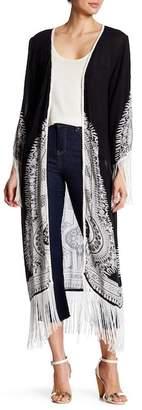 Raga Trinity Fringe Kimono