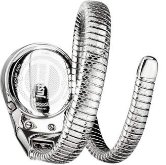 Just Cavalli Crystal Stainless Steel Snake Wrap Cuff Watch