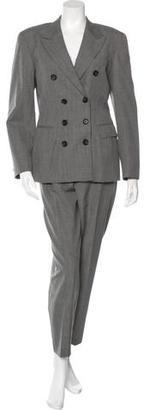 Yohji Yamamoto Wool Double-Breasted Pantsuit $245 thestylecure.com