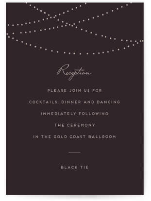 Lavish Reception Cards