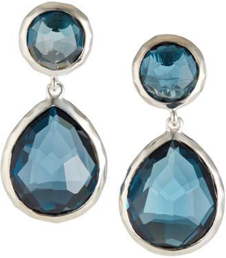 Ippolita Rock Candy 2-Stone Drop Earrings, London Blue Topaz