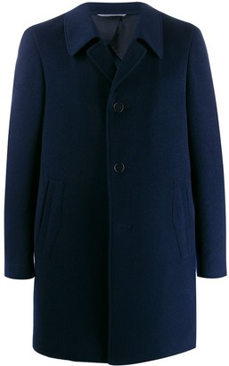 Canali oversized collar single-breasted coat