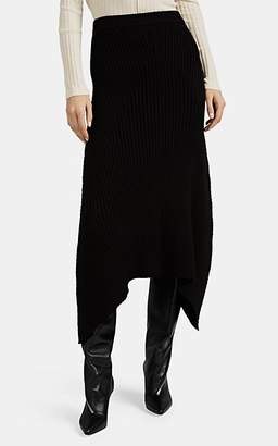 Givenchy Women's Rib-Knit Long Skirt - Black