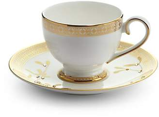 Gourmet Dining Prouna Golden Leaves Tea Cup & Saucer