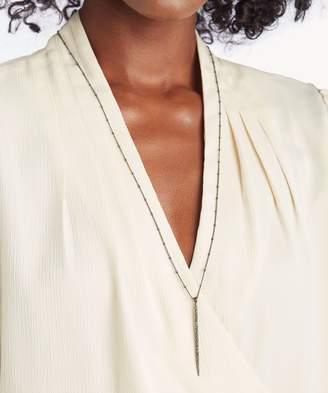 Sole Society Pave Single Stick Necklace