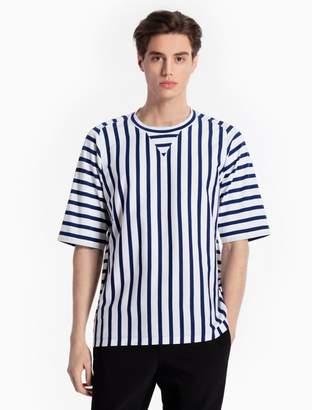 Calvin Klein striped raglan cotton knit t-shirt