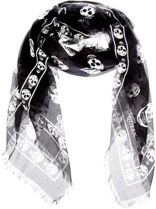 Alexander McQueen Skull Printed Modal & Silk Blend Scarf