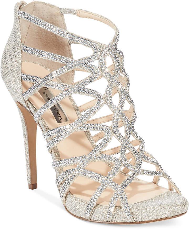 Inc International Concepts Women's Sharee High Heel Rhinestone Evening Sandals, Created for Macy's Women's Shoes