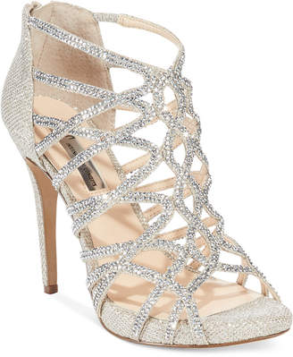 INC International Concepts Women's Sharee High Heel Rhinestone Evening Sandals, Only at Macy's $119.50 thestylecure.com