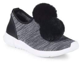 Sam Edelman Lisette Faux Fur Pom-Pom Sneakers