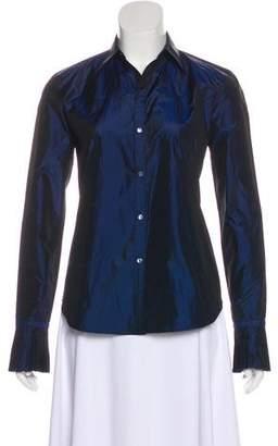 Ralph Lauren Black Label Silk Collared Button-Up