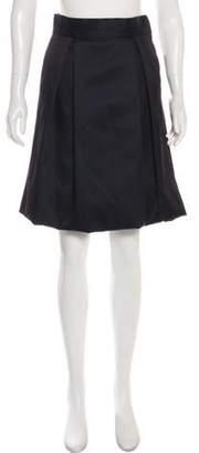 Lela Rose Knee-Length Pleated Skirt Black Knee-Length Pleated Skirt