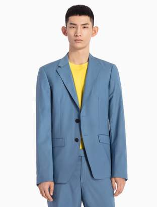 Calvin Klein slim fit 2-button woven blazer