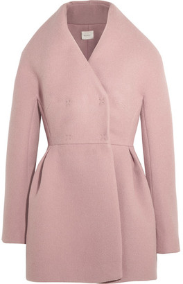 DELPOZO - Wool And Mohair-blend Coat - Antique rose $2,850 thestylecure.com