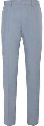 HUGO BOSS Light-Blue Genesis Slim-Fit Cotton-Poplin Suit Trousers
