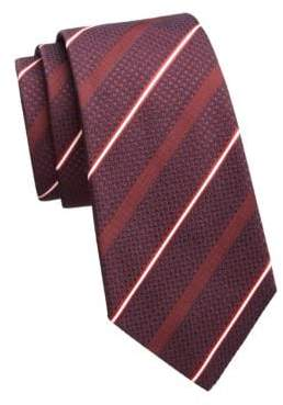 Emporio Armani Layered Diagonal Stripe Tie