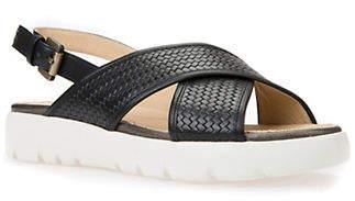 Geox Amalitha Textured Slingback Sandals