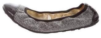 Jimmy Choo Glitter Cap-Toe Flats