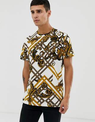 Versace t-shirt with all over baroque print