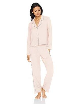 Splendid Women's Button Up Long Sleeve Top Bottom Cozy Classic Pajama Set Pj