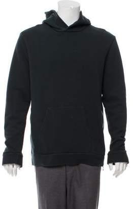 Balmain Zip-Accented Hooded Sweatshirt