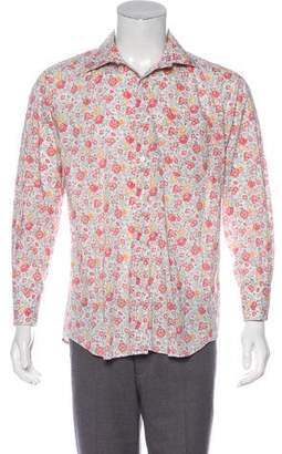 Paul Smith Floral Print French Cuff Shirt