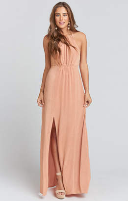 Show Me Your Mumu Amanda Maxi Dress ~ Dancing Queen Shine Copper