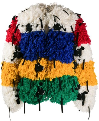 Benetton oversized sheep jacket