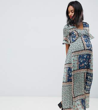 Mama Licious Mama.Licious Mamalicious patchwork maxi dress