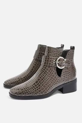 Topshop KEM Cut Out Ankle Boots
