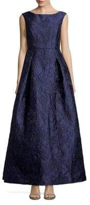Karl Lagerfeld Social Textured Evening Gown