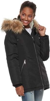 Steve Madden Nyc NYC Juniors' Sherpa-Hood Anorak Jacket