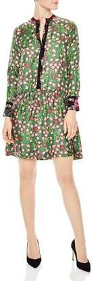 Sandro Torr Floral-Print Silk Dress