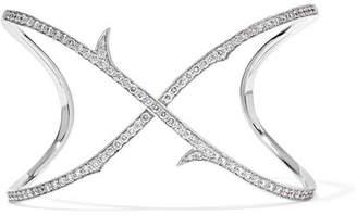 Stephen Webster Thorn Stem 18-karat White Gold Diamond Cuff - one size