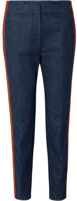 Calvin Klein Striped Slim-leg Jeans - Dark denim