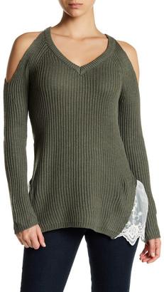 MADISON & BERKELEY Cold Shoulder V-Neck Sweater $24.97 thestylecure.com