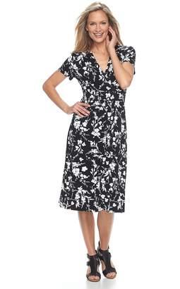 Croft & Barrow Petite Surplice Short Sleeve Dress