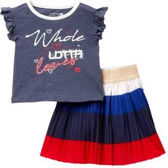 Joe's Jeans Graphic Top & Skirt 2-Piece Set (Baby Girls)